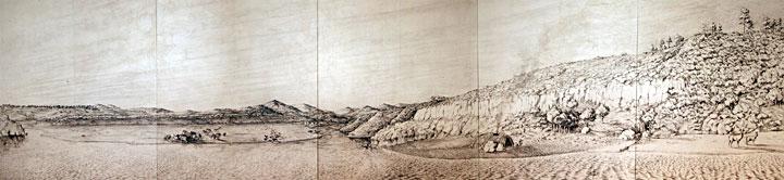 Panorama site de Terra Amata il y a 400 000 ans