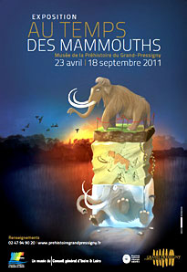 Au temps des mammouts - exposition - Grand-Pressigny