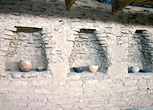 Reconstitution de l'intérieur d'une maison à Arkaim