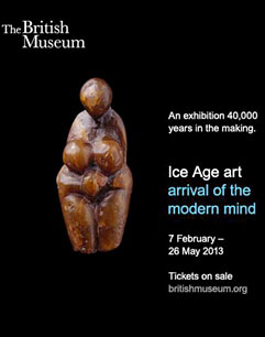 Ice Age Art exposition à Londres