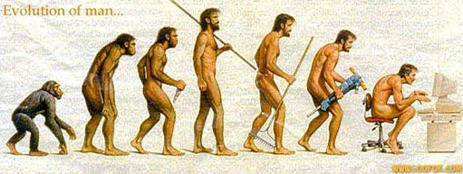 Evolution de l'homme vers l'informatique