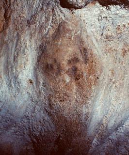 Visage humain peint à Bernifal