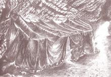 Grotte de Lazaret - Reconstistution de la cabane