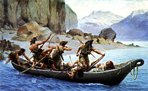 l'image de l'homme préhistorique Le-rapt-paul-jamin-1900