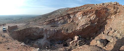 Le site de Jebel Irhoud au Maroc