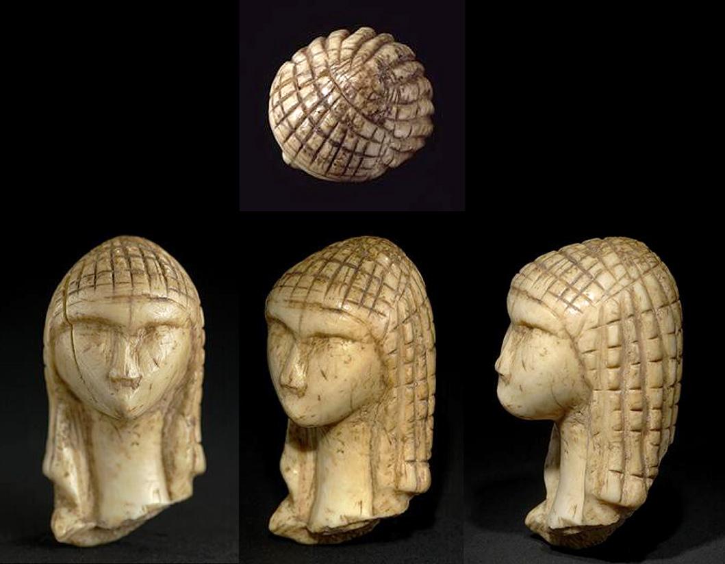 Sculpture Femme Ronde Colorée dame de brassempouy - hominidés